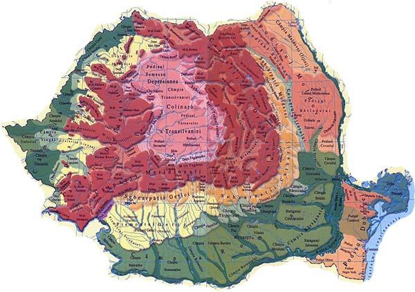 Analiza Si Interpretarea Reliefului Romaniei