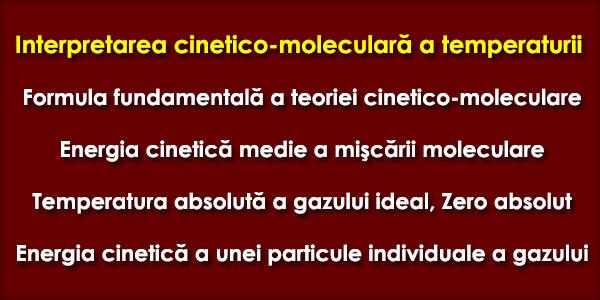 Interpretarea cinetico-moleculară a temperaturii