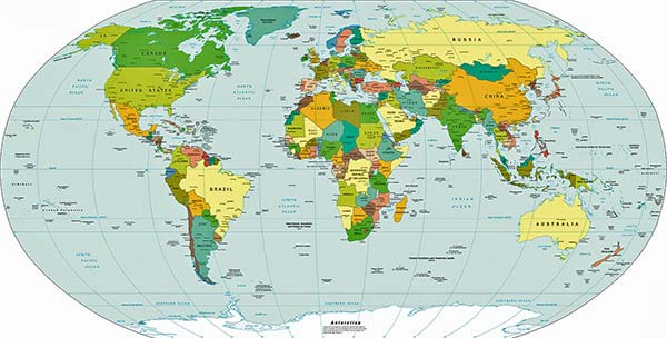 Harta politică - Stalele lumii
