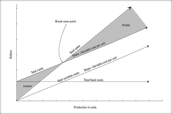 Producţie, Costuri, Volum vânzări, Pierdere / Profit