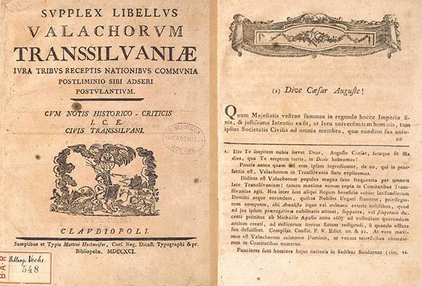Supplex Libellus Valachorum Transsilvaniae